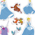 Decoupages cendrillon activite princesses disney
